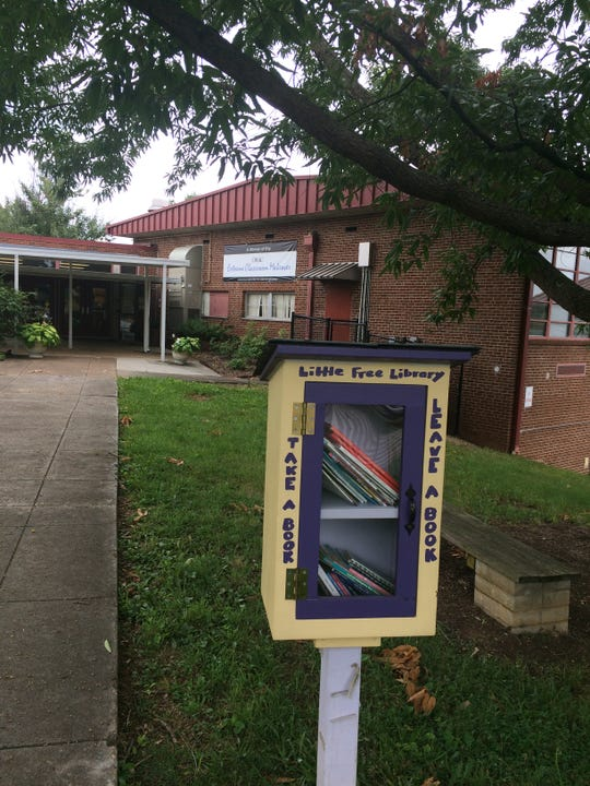"One of the touches that makes West View Elementary School special is the ""take a book, leave a book"" Little Library outside the main doors."