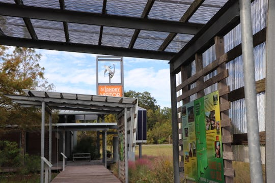 The St. Landry Parish Visitor Center was built with reclaimed materials and showcases local plants and art.