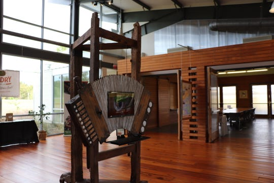 The St. Landry Parish Visitor Center displays local art.