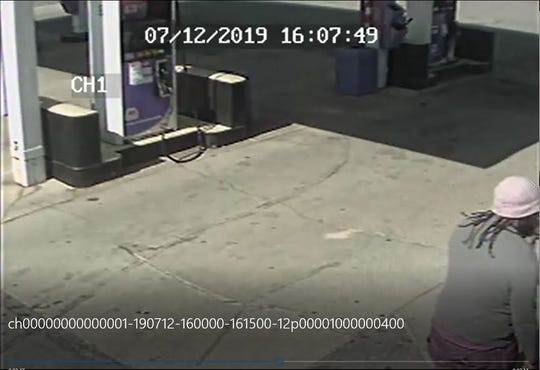 The Marion Police Department released images Saturday taken from a surveillance camera at the Marathon gas station on East Center Street, where they say a robbery took place Friday.