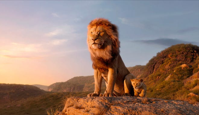 "Looking more like DisneyNature than Disney animation, here is ""The Lion King,"" 2019."