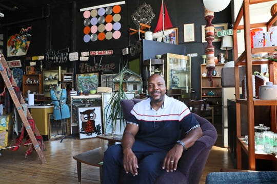 Eric Lewis runs an online auction, but his Walker's Point store is where he feeds his love of mid-century modern furnishings.