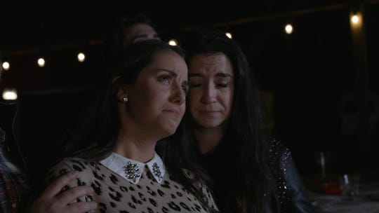 "Taylor Kirksey Sublett as Sarah, left, and Josey Lee as Justine in a scene from Stephen Poff's film ""The Song You'll Never Hear."""