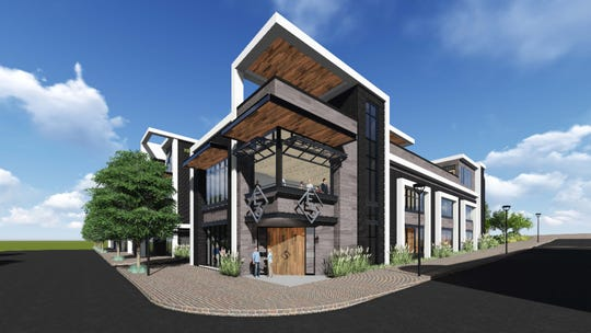 A rendering shows E3 Chophouse, which is slated for a fall opening in Hillsboro Village.