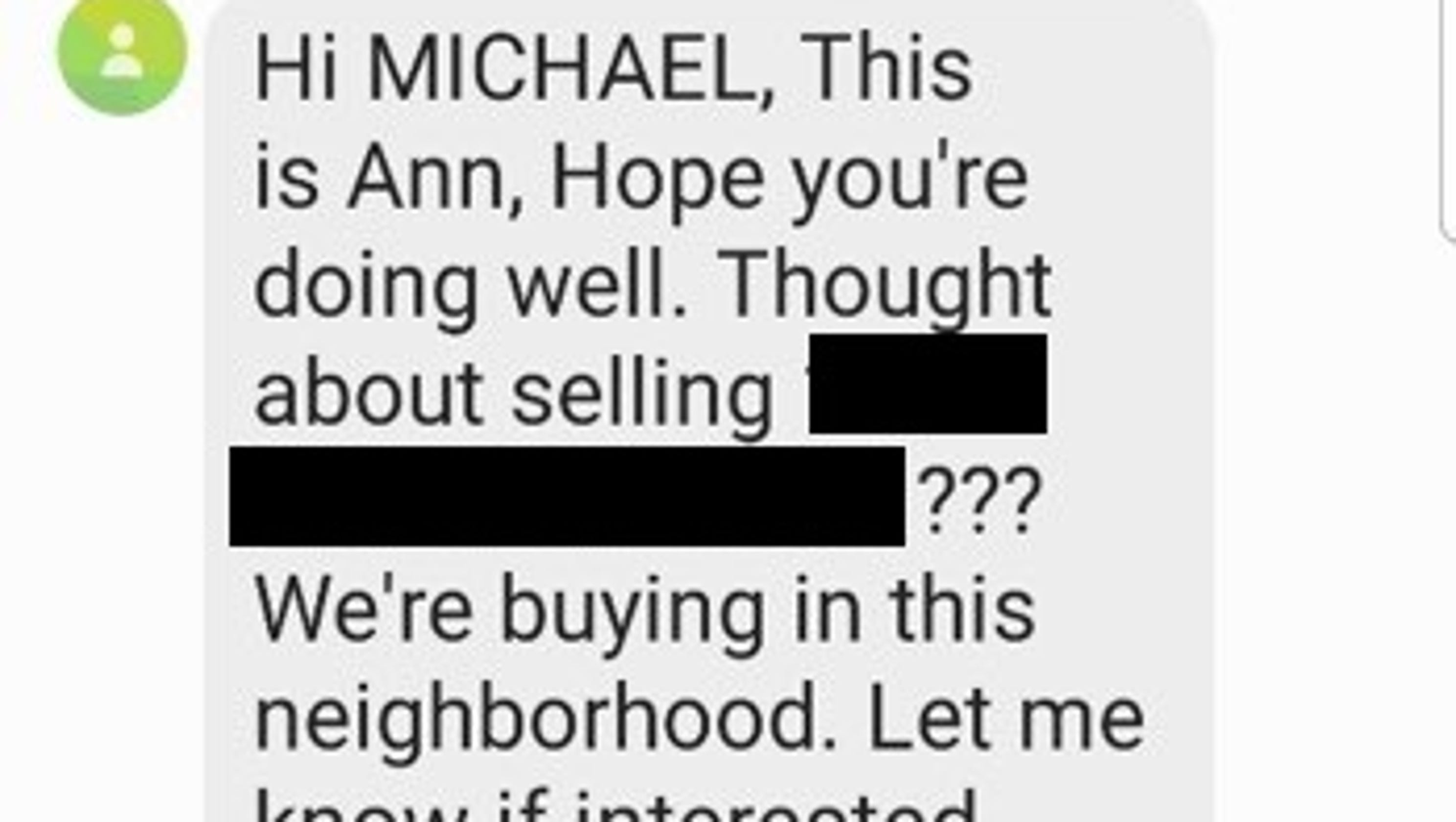 Nashville residents get texts about selling their homes  Is