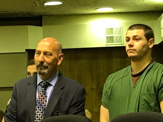 Jason Vanderee with his attorney John Latoracca in Superior Court on Monday.
