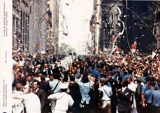 New York's ticker tape parade for the astronauts of Apollo 11.