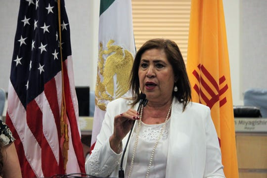 María Luisa González Achem, mayor of Lerdo, Durango, Mexico, led a delegation to visit Las Cruces on Monday, July 15, 2019, as the two cities marked three decades as sister cities.