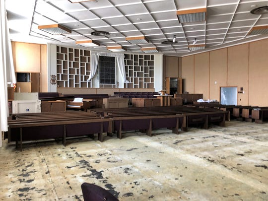 Carpet and other fabrics have been removed from the chapel in The Church of Jesus Christ of Latter-day Saints on West Apache Street in Farmington. A June 4 fire caused smoke damage to most of the structure built in the 1950's.