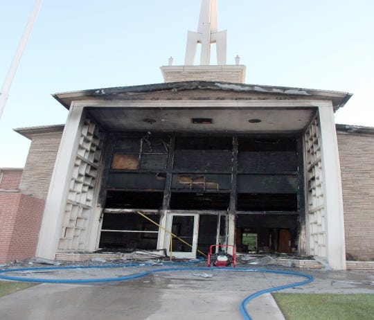 Investigators say the cause of the June 1, 2019 fire in the Church of Jesus Christ of Latter-day Saints on the 400 block of West Apache Street in Farmington was arson. A $5,000 reward was posted July 15 by the ATF.