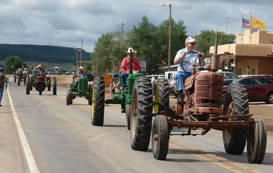 The annual parade illustrated the farming and ranching history of the community.