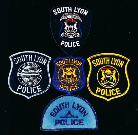 These are some older and more recent South Lyon police patches.