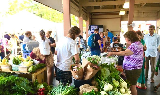 An abundance of produce can be found at the Farmington Farmers Market