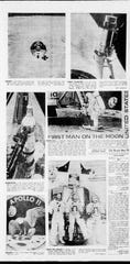 Moon landing pictures