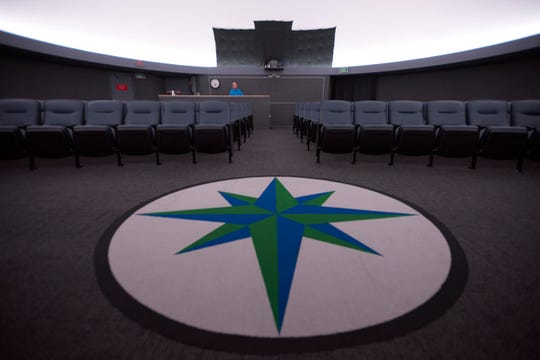 The Pensacola State College Planetarium and Space Theater has undergone an extensive renovation. The updates include repainting the 40-foot diameter dome, computerized LED lighting, a state-of-the-art surround sound system, new seating, carpeting and an updated control console.