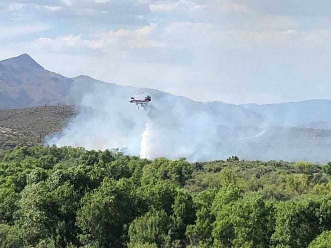 """""""Aerial support aided firefighters in suppressing the Horseshoe Fire on July 13"""""""