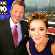 Fox Channel 10's Kari Lake with her co-host John Hook.