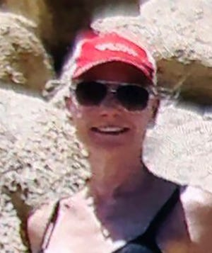 This undated handout photo released by the San Bernardino County Sheriff's Office shows 69-year-old Barbara Thomas. Authorities in California say they are searching for Thomas, an Arizona woman who went missing while hiking in the Mojave Desert. Thomas was last seen Friday, July 12, 2019, wearing a black bikini, a red baseball cap and tan hiking boots with black socks. (San Bernardino County Sheriff's Office via AP)