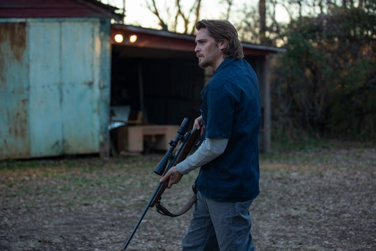 "Nick (Luke Grimes) hunts down his wife's killer in ""Into the Ashes."""