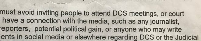 The Arizona Republic has obtained documents that include restrictions on a parent from inviting journalists, politicians and anyone who may criticize The Department of Child Safety to their DCS meetings or court hearings.