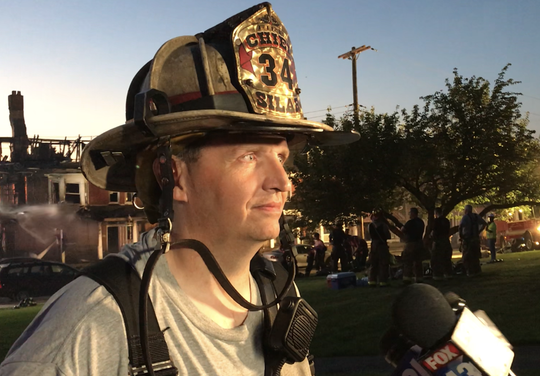 At its peak, Leo Independent Fire Engine Co. No. 1 Fire Chief Joseph Silar said more than 60 firefighters helped fight a two-alarm fire on Sunday on Boundary Avenue in Red Lion.