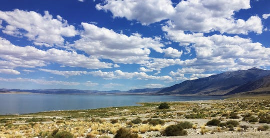 Walker Lake in Mineral County, Nev., on July 14, 2019. Mt. Grant, elevation 11,285 feet, is on the western horizon.