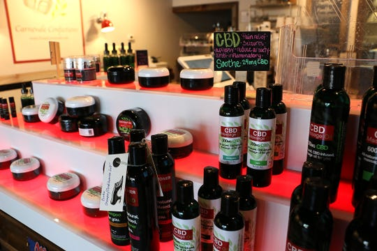 CBD infused product is seen at Pianissimo in south Reno on July 11, 2019.