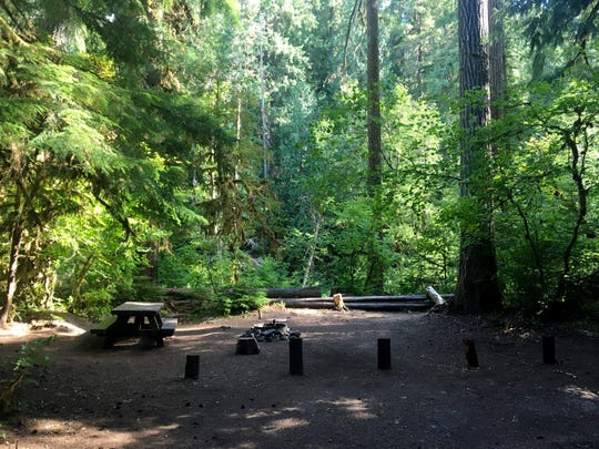 Kingfisher Campground is a quiet campground on the Collawash River between Estacada and Detroit.