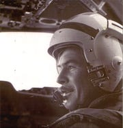 "Navy Lt. Forrest ""Zeke"" Zetterberg in the cockpit of Grumman E-1B tracer. He was the plane commander and sat in the left, pilot's seat on the day of the Apollo 11 recovery mission July 24, 1969."