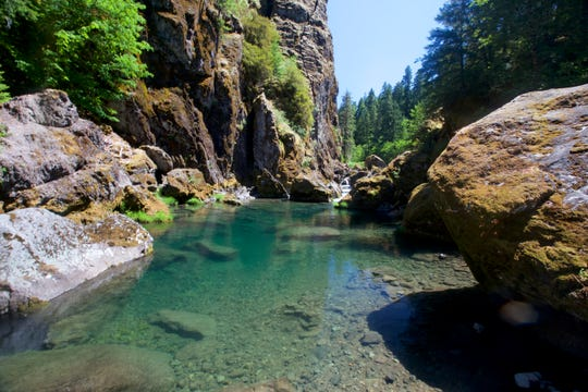 This swimming hole is one of the many you can find on the Collawash River off Forest Service Roads 70 and 64 in Mount Hood National Forest.