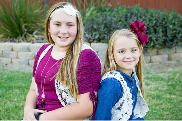 Sierra Killam age 12 (left) and Teela Killam age 7 (right) both have their own small businesses.