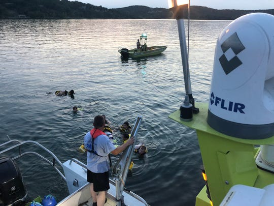 Western Taney County Fire Protection District conducts water training rescue on Table Rock Lake.