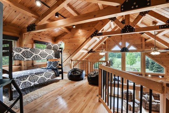 The upper-level loft offers lots of living space and can double as a bunk room.
