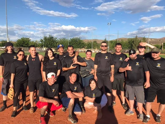 The sober softball league will play law enforcement officials Tuesday night at the Washington City Softball Complex.
