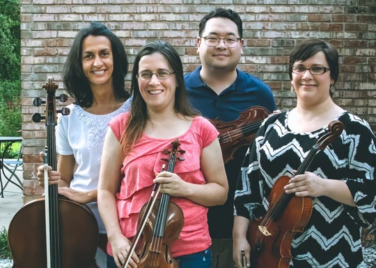 The Purple Martin String Quartet members are Zlatina Staykova, Carrie Holden, Ken Davis, and Miriam Tellechea. They will perform Sunday at Unitarian Universalist Church of Tallahassee