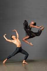 Ailey II's Caroline Theodora Dartey and Carl Ponce Cubero.