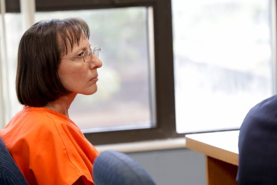 Regina Ceska appears in Wakulla County court for her first appearance after being charged with two counts of neglect and two counts of failure to report abuse Monday, July 15, 2019. Regina Ceska and her husband Mirko Ceska are accused of abusing twin sisters they adopted.