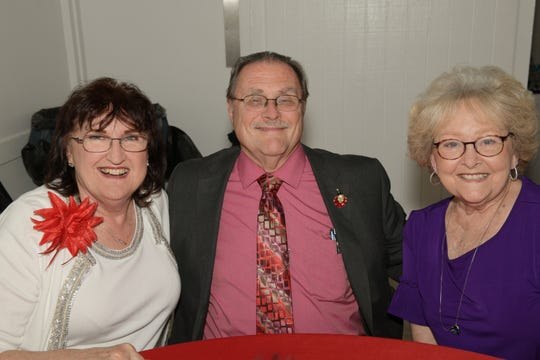 Kathryn and Carl Hensley, left, with Pat Alley at the Children's Services Council of St. Lucie County's Annual Awards Dinner.