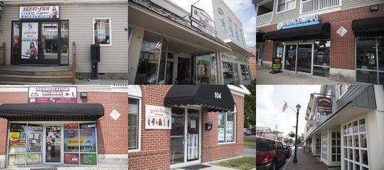 Just a few of the Latino-owned businesses in Georgetown. Clockwise: Servi-Fam Express, Mi Pueblito Mini Store, Laudromat Wash & Fold Dry Cleaning, Jalapeño Restaurant, Gloria's Fashion, Mundo Latino Records.
