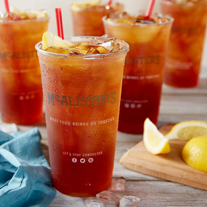 From 10:30 a.m. to 9 p.m. Friday, customers can get a free glass of McAlister's famous iced tea.