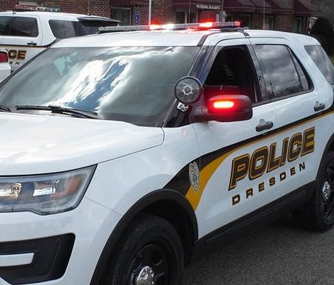 A Dresden police officer has been suspended pending an investigation involving a Fairfield County incident.