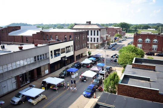 The Wednesday market changed its location to North 4th Street this year to bring the downtown community together.