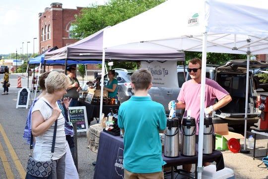 Jennings Java sold various coffee blends at last week's Farmers Market.