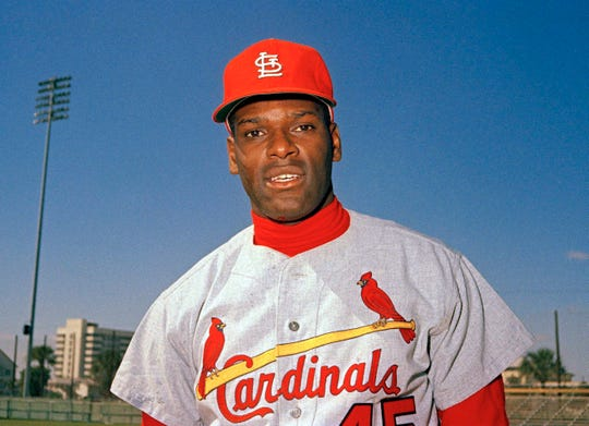 Bob Gibson finished his 17-year career, all with the Cardinals, with a 2.91 ERA and 3,117 strikeouts.