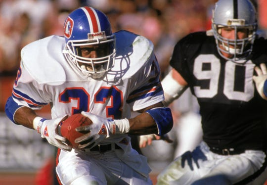 Tony Dorsett rushed for 703 yards and five touchdowns in his one season with the Broncos.