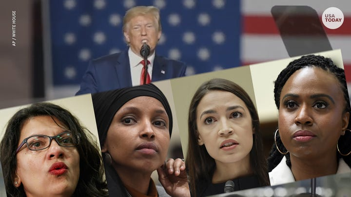 'Squad' congresswomen call Trump 'go back' tweets racist