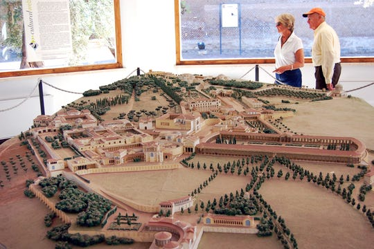 A model of Hadrian's Villa helps visitors appreciate the vastness of the complex, much of which is now rubble.