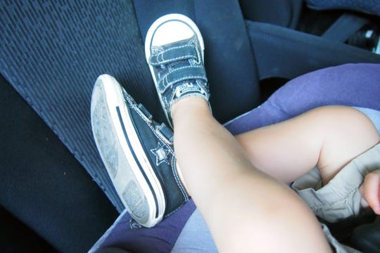 Children are much safer riding in a rear-facing seat than in a forward-facing one.