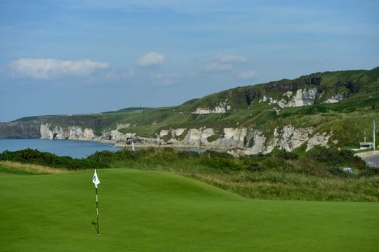 The 148th British Open is being held at the Royal Portrush Golf Club in Northern Ireland.