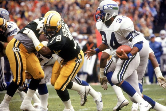 Franco Harris rushed for just 170 yards in his one season with the Seahawks.